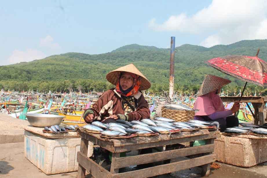 Suasana Tempat Pelelangan Ikan Puger