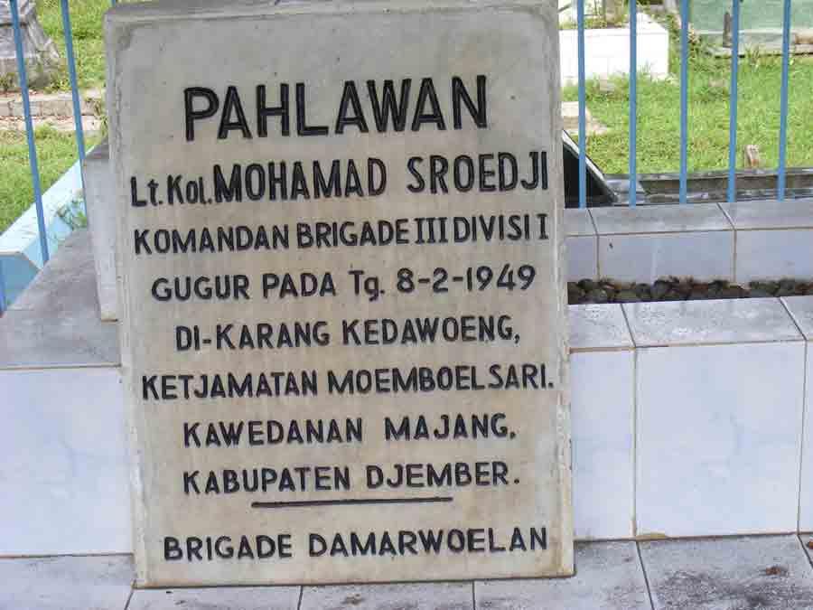 Makam Letkol Sroedji