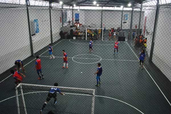 Suasana Didalam Nusantara Futsal