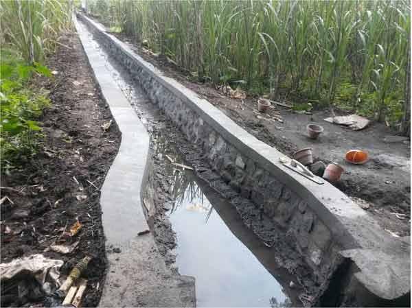 saluran air konstruksi wj