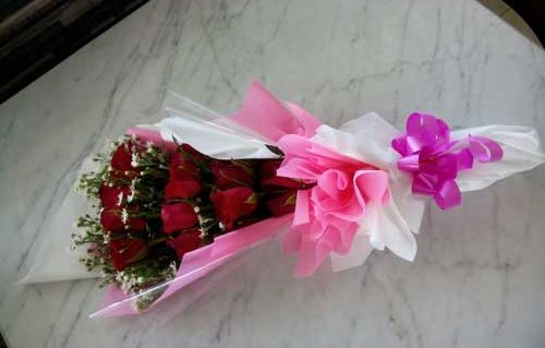 Buket Bunga Merah